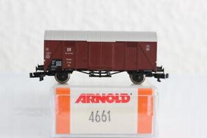 N ARNOLD 4661 DR Waggon gedeckter GÜTERWAGEN boxcar OVP J55