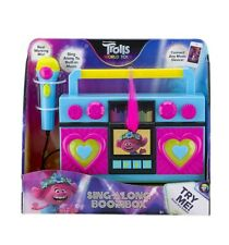 Trolls World Tour Sing Along Boombox with Microphone, KIDdesigns. *NEW*