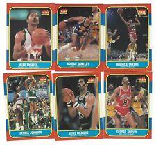 106 different 1986-87 Fleer Basketball Cards; Starter Set of 106/132