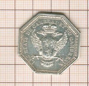 Cambric Token Silver Louis XVI Condition of Cambrai And Of Cambraisis