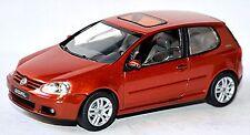 VW Volkswagen Golf 5 GOAL Typ 1K 3 puertas 2006 Cobre Naranja metálico 1:43