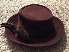 Vintage Womens Brown Bucket Hat