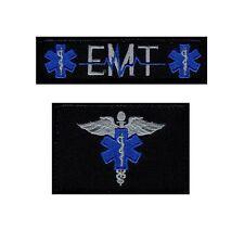EMT USA Flag Medic Cross Tactical Hook Patch 2pcs Bundle
