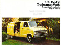 1976 Dodge Tradesman Van 12-page Original Car Sales Brochure Catalog - Cargo