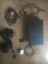 PlayStation 2 consola + cables + 2 mandos + volante Double Force + pack juegos