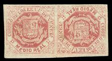 VENEZUELA 1869 Coat of Arms ½r lilac rose Sc# 19b MH tête-bêche - POSTAL FORGERY