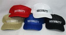 Wholesale Lot of 12 Security Hats Mesh Baseball Caps Law Enforcement Cop Costume