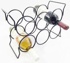 Acier noir plateau de table gratuit permanent bouteille vin titulaire stand rack pour 6 bouteilles