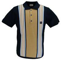 Plain polo shirt with half block peacock feather pattern Gabicci