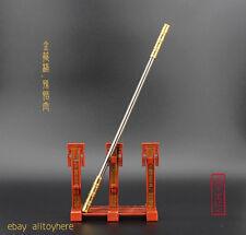 Monkey King golden cudgel chinese sword D3 Monk weapon Metal spear 23CM 金箍棒