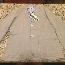 Men's Stripped Blazer Jacket By Under Two Flags Large NWT, From NY Store
