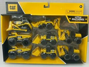8 Pack CAT Caterpillar Little Machine Toys Bulldozer Dump Truck & More