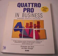 Quattro Pro in Business by Chris Van Buren - Vintage Computer Book + Disk (CB22)