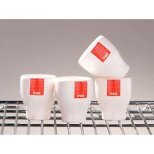 Set of 4 Tag Range Red and WHITE Ceramic Egg Cup