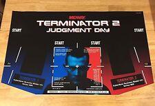 Terminator 2 Arcade Control Panel Overlay CPO Decal Vinyl Parts NOS Midway