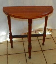 Solid Walnut Demilune Entry Table / Side Table (T660)