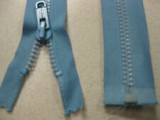 No 8 plastic teeth OPEN END zip 41cm BLUE @ $1.50 each Single tab locking slide