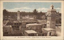 El Hamma Tunisia Africa Arab Village c1915 Postcard #1