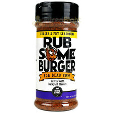 Rub Some Burger & Fry Seasoning 6.5 Oz Busting with Backyard Flavors Gluten Free