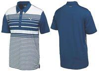 Puma Golf Yarn Dye Stripe Polo Shirt - XS SMALL MEDIUM - 1st Class Post - RRP£45