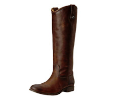 FRYE Women's Melissa Dark Brown Cowboy/ Riding Style Boot Size 5.5 M