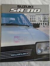 Suzuki SA 310 brochure c1985 UK market large format