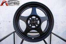 16x7 Rota SLIPSTREAM 4x100 +40 Flat Black Wheel (1)