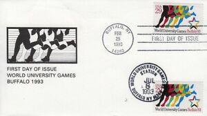 1993 World University Games Sc 2748 Buffalo NY, Cartonia 1st cachet signed