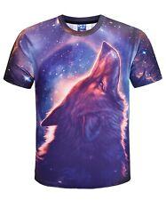 Lobo mística T-Shirt 3d impreso única Animal Perro naturaleza Indio Nativo Americano