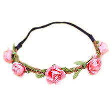 ET Dame Blumen Haarband Stirnband Festival Party Hochzeit rosa