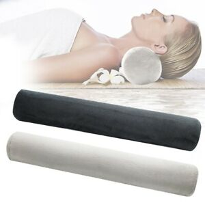 Foam Cylinder Bolster Cushion Soft Seats Backrest Round Nap L Pillow Grey/Black