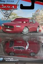 "DISNEY PIXAR CARS 2 ""CARLO MASERATI"" NEW IN PACKAGE, SHIP WORLDWIDE"