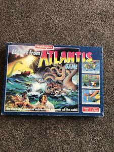 Escape From Atlantis Game Waddingtons 1986 Used