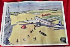 Old School Poster Rossignol EO Air Station Airport Radio Station Transmitter