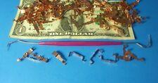 HO Slot Car Parts WIDE PAN Tyco 440 & 440x2 Pickup Shoe Lot of 10 Sets FREE TOOL