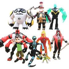 Lot 9 pcs Ben 10 Action Figure Play set Toy Cake Topper XLR8 Heatblast Four Arms