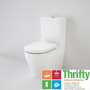 Caroma Luna Cleanflush Bottom Inlet Toilet Suite Wall Faced Soft Close Seat