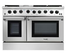 Thor Kitchen 48Inch Gas Range 2 Oven 6 Cooktop Griddle Stainless Steel LRG4801U