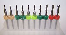 "MICRO MACHINING KIT - 10 NEW CARBIDE ENDMILLS - .0312"" to .1250"""