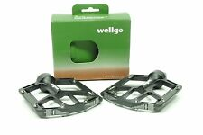 Wellgo B181 Flat Pedals Low Profile Design Black