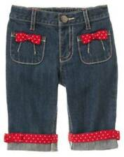NWT Gymboree Girls Cherry Cute Capri Jeans Size 3-6 M