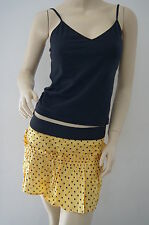 TOPSHOP Yellow Spotted Polka Dot Mini Ruffle Full Skirt Size 10 NEW £22 PH9