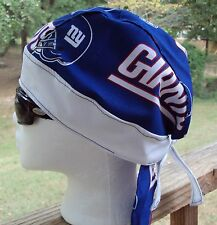 NEW YORK GIANTS FOOTBALL DU RAG SKULL CAP BANDANA BIKER CHEMO CAP