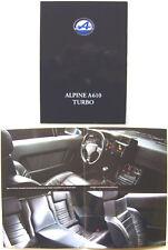 Renault Alpine A610 Turbo 1991-92 German Brochure
