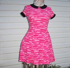 "NEW ""BLOSSOM"" POWERPUFF GIRLS Pink MCM Geometric Dress HOT TOPIC EXC. Medium"