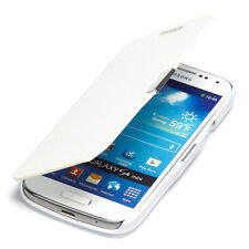 Samsung Galaxy S4 Mini Hülle Tasche Flip Case Schutz Etui Wallet Book Cover weiß