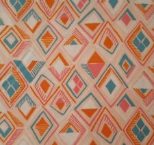 Garden Party BTY Katy Tanis Blend Fabrics Abstract Diamonds Teal Orange Pink
