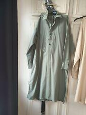 Mens asian clothing khaki green large sharwar kameez with black detail