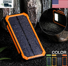 Waterproof Solar Power Bank 300000mah 2USB Portable Battery Charger For CellPhon