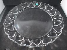 Pre-owned Tiffany & Co. Crystal 12 inch Heart Platter